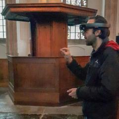 Lees alles over dit mixed reality project in de Oude Kerk